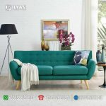 Sofa Hijau 3 Seater Retro If-0217